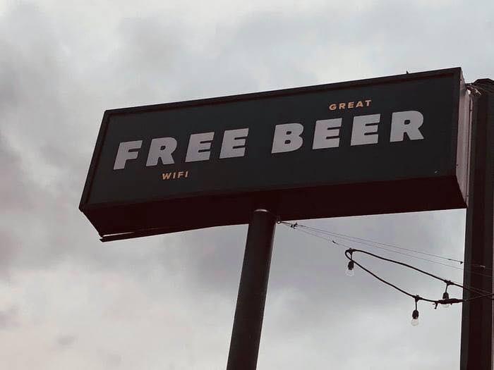 Free Wifi Great Beer Billboard