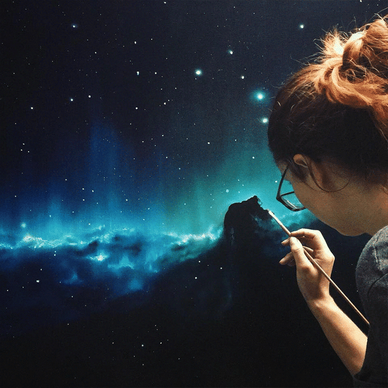 Artist Cathrin Machin Space Paintings