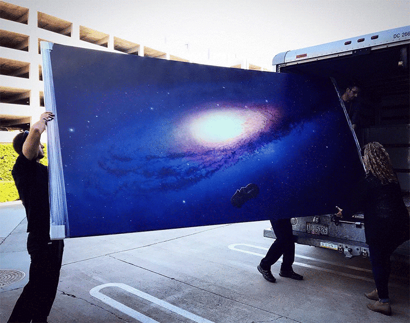 Cathrin Machin Artist Creates Paintings of Space