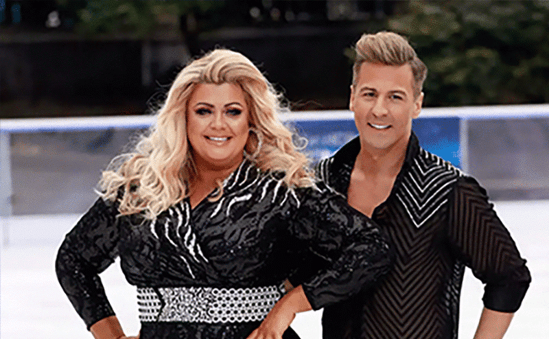 Gemma Collins falling on Dancing on Ice