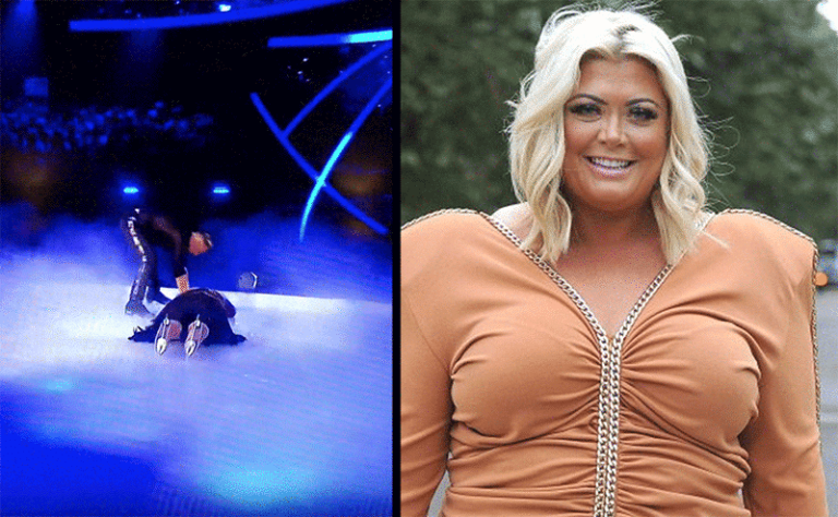 Gemma Collins stacks it during Dancing on Ice