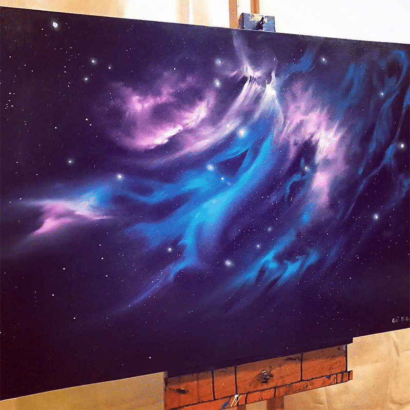 Photorealistic Paintings of Space