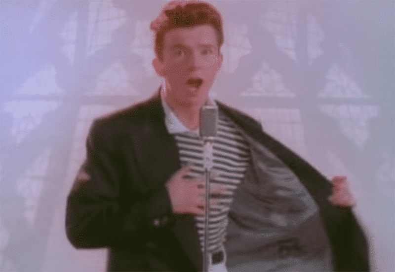 Rickrolled and Rickrolling
