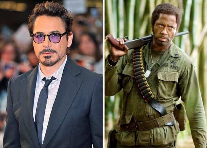 Robert Downey Jr Kirk Lazarus Tropic Thunder