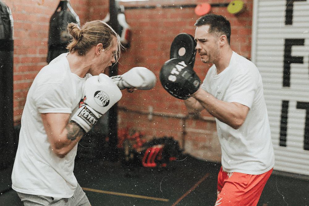 white collar boxing training