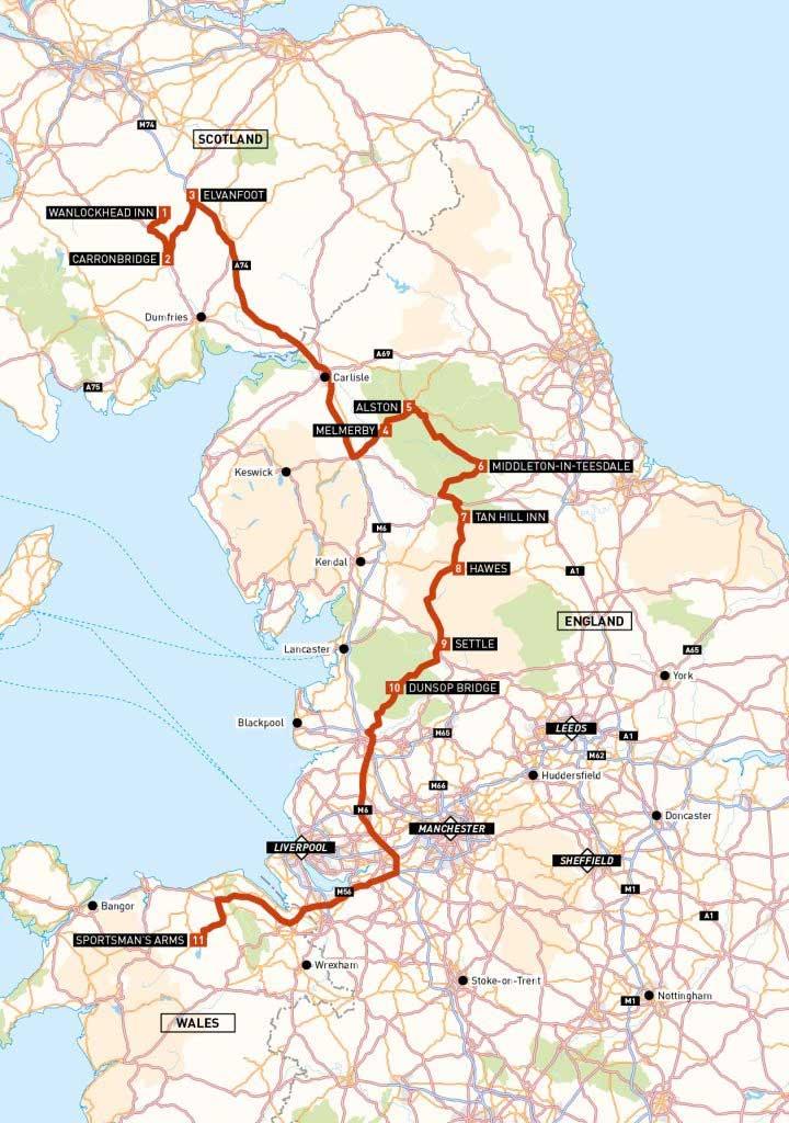 three pubs challenge map abr magazine