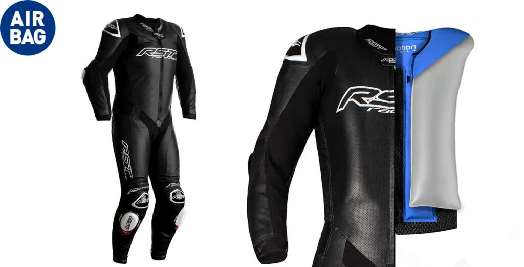 rst race dept v4.1 airbag one piece leathers