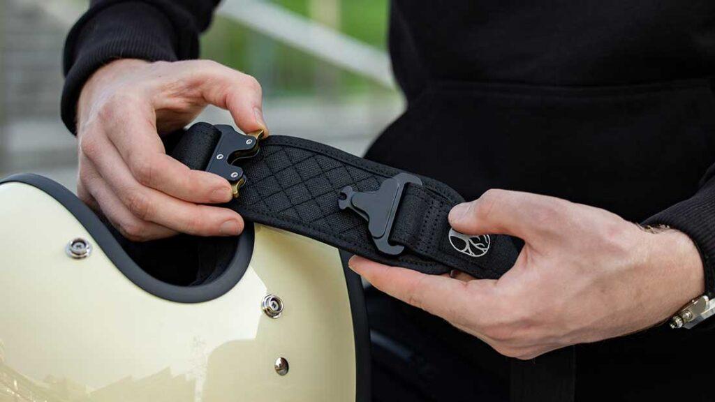 motorbike helmet shoulder strap