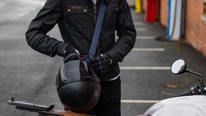 shoulder strap for motorcycle helmet sling