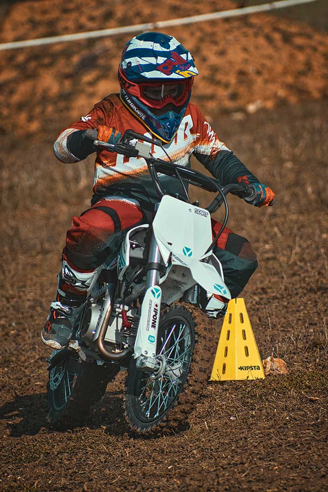 young motocross rider