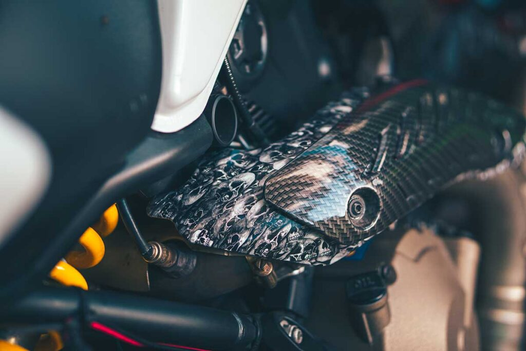 ducati monster 821 exhaust guard cover