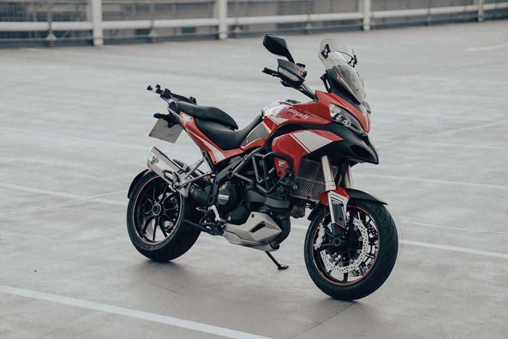 v-twin multistrada motorcycle