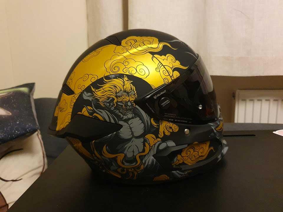 ruroc atlas 3.0 fujin motorcycle helmet