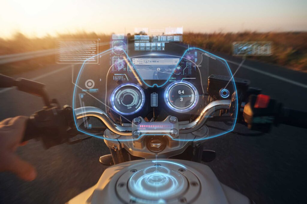 motorcycle rider aids and technology