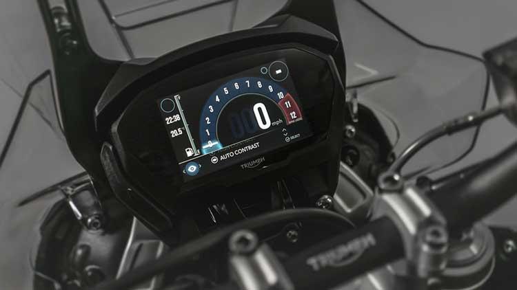 triumph tiger motorcycle digital dashboard